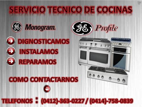 servcio tecnico de cocinas monogram y profile