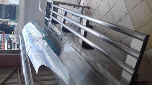 service 6 bandejas acero inoxidable (fabricamos)
