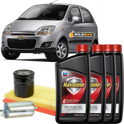 service cambio aceite chevrolet spark havoline 10w40 filtros