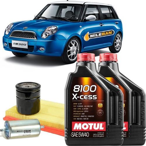 service cambio de aceite lifan 320 motul sintético + filtros