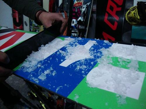 service de afilado de cantos y encerado de snowboard y ski