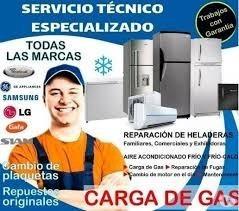service de heladera carga gas reparacion técnico a domicilio