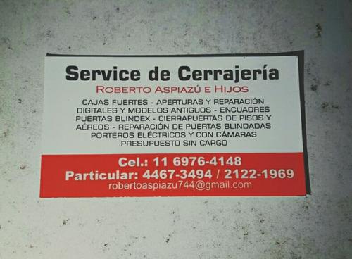 service de urgencias puertas blindex y cajas fuertes