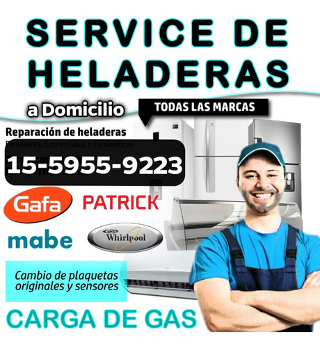 service heladera carga gas villa pueyrredon devoto agronomia