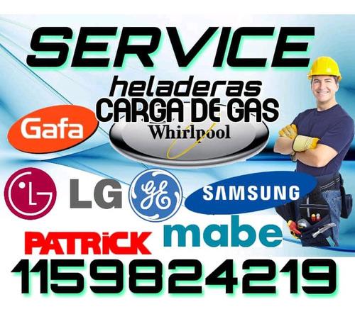 service heladeras carga gas recoleta palermo colegiales