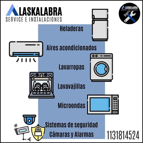 service instalación aires acondicionado lavarropas heladeras