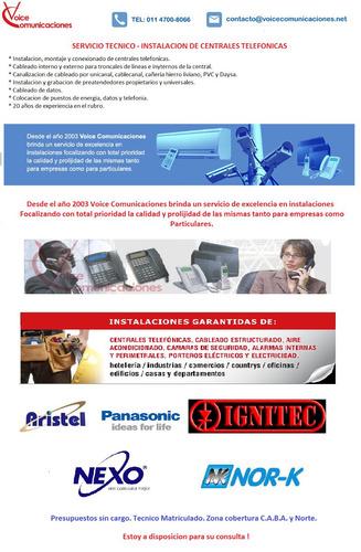 service -instalaciones -programaciones centrales telefonicas