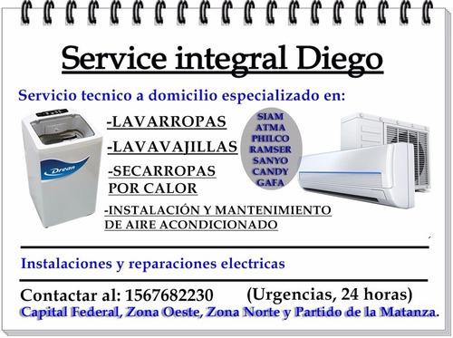 service lavarropas atma philco siam candy,generadores electr