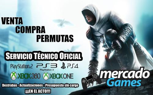 service oficial game consolas xbox, ps2, ps3, ps4