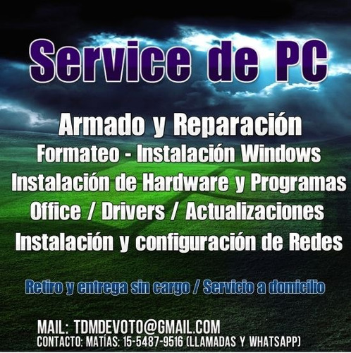 service pc notebook reparacion devoto capital a domicilio