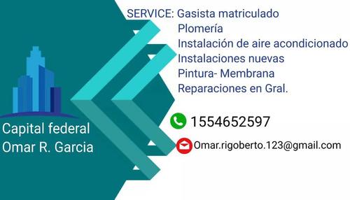 service plomería ,gas matriculado,y aire acondicionado