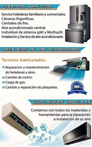 service reparacion heladeras / camaras frig. cel.:1563587804