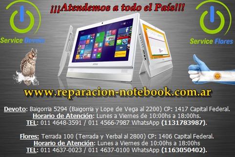 service reparación notebook netbook pc one hp compaq toshiba