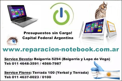 service reparación notebook ultrabook netbook pc all in one