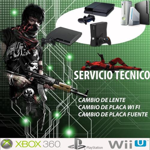 service reparación ps3 ps4 psp wii xbox360 one morón