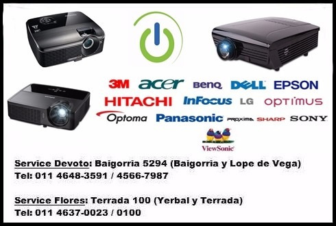 service reparación servicio técnico proyectores todas marcas