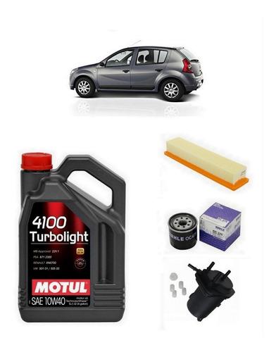 service sandero 1.5 dci + aceite motul + 3 filtros + escaneo