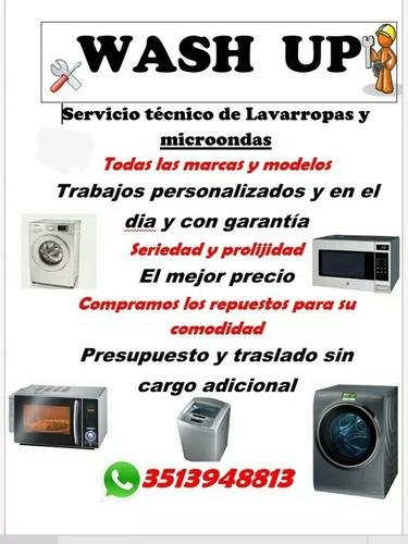 service tecnico de lavarropas y microondas (lun a lun)