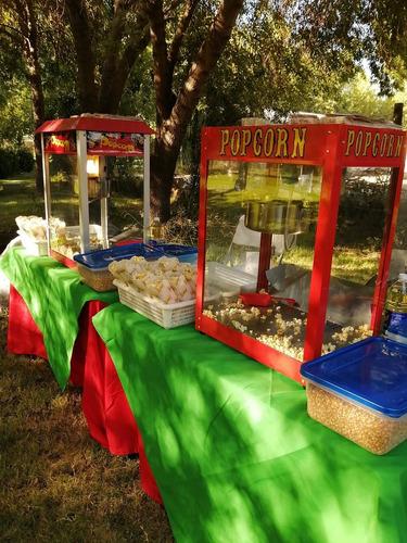 servicio algodón de azúcar,cabritas y completos.