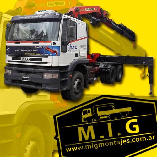 servicio alquiler camion hidrogrua con barquilla