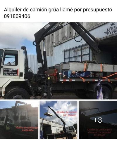 servicio ,alquiler de camión hidro grúa