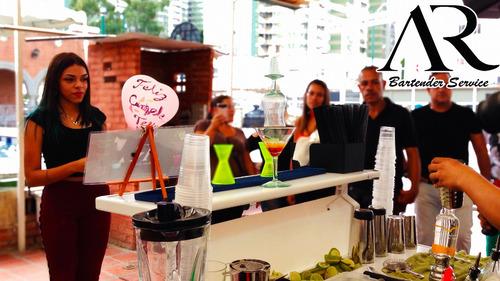 servicio barra móvil led, coctelería, bartender, económico!!