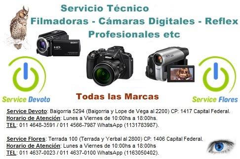 servicio cámaras digitales