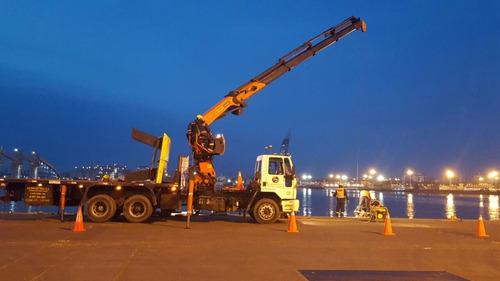 servicio camión grua carga descarga obras limpieza izaje.