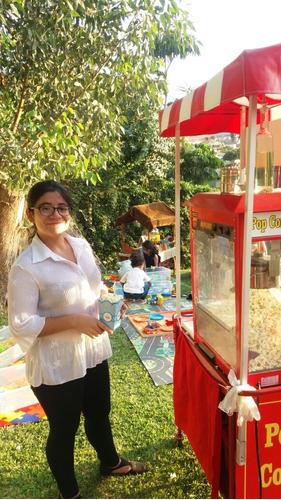 servicio carrito snack-pop corn,algodon dulces,hot dogs,etc.