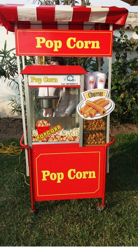 servicio carritos snacks: pop corn, algodon, hamburguesas