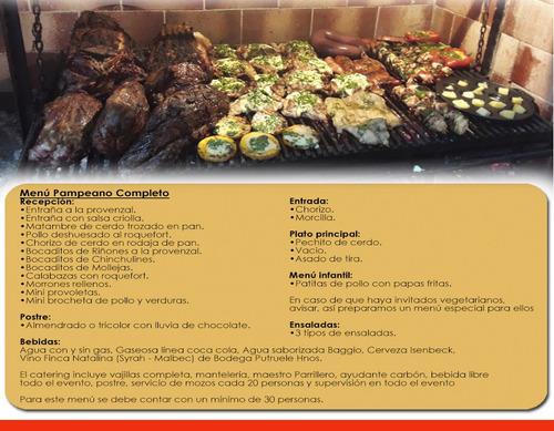 servicio catering de asados, parrilla, eventos y ensaladas
