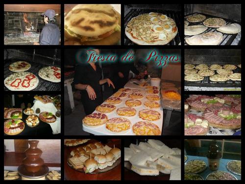 servicio catering, pizzas, calzone, chivitos, lunch, etc.