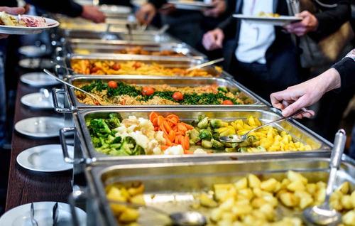 servicio catering y coffee breack buffet paella pastas sopa