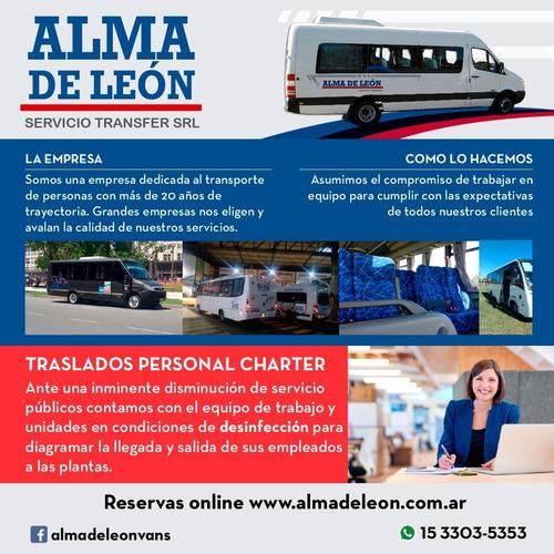 servicio charter empresarial- traslado personal.-
