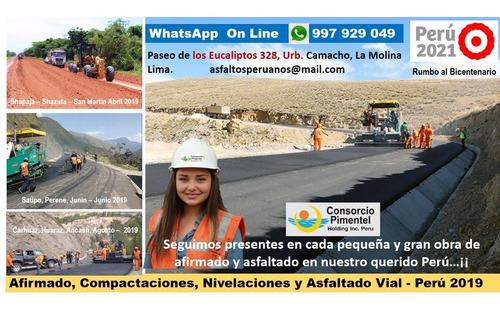 servicio colocación asfalto en caliente imprimaciones perú
