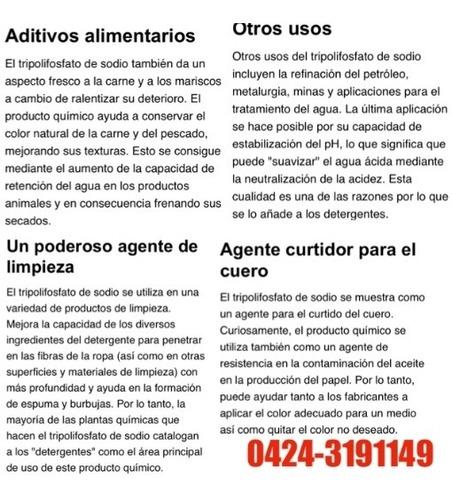 servicio cura sal tripolifosfato comestible embutido chorizo