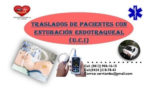 servicio d ambulancias u.c.i y de atención medica en  hogar