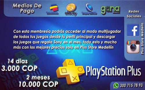 servicio de activación paquetes playstation plus económicos