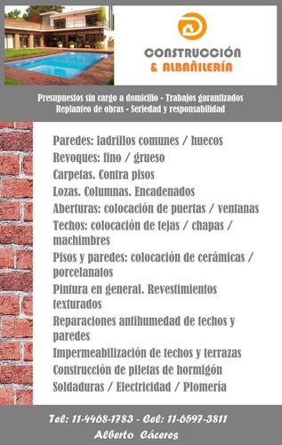 servicio de albañilería y construcción