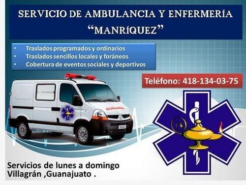 servicio de ambulancia y enfermería