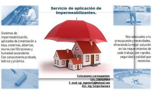 servicio de aplicación de sistemas impermeables.