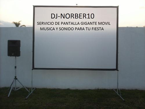 servicio de aquiler pantalla gigante movil para tu fiesta