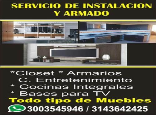 servicio de armado de muebles e instalaciones a domicilio