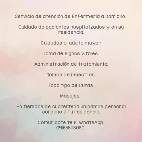 servicio de atención de enfermeria a domicilio