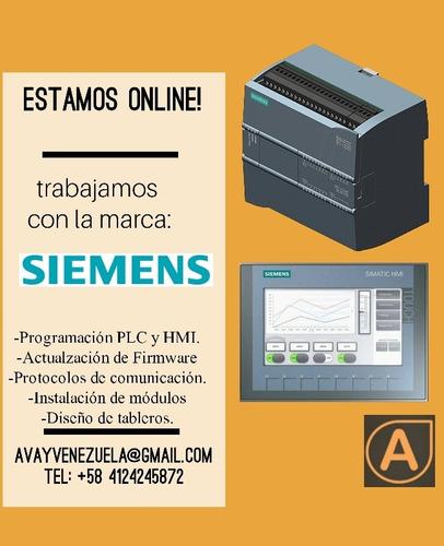 servicio de automatización, variadores, plc, hmi