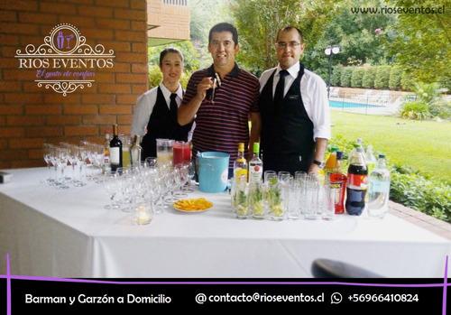 servicio de barman y garzones a domicilio