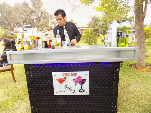 servicio de barman,mozos a1,alquiler barra móvil a domicilio