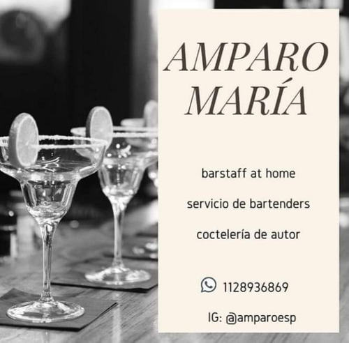 servicio de barra móvil. bartenders a domicilio