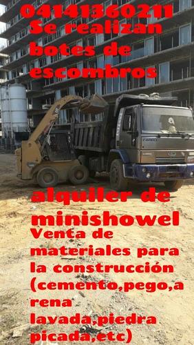 servicio de bote de escombros,fletes,alquiler de minishowell