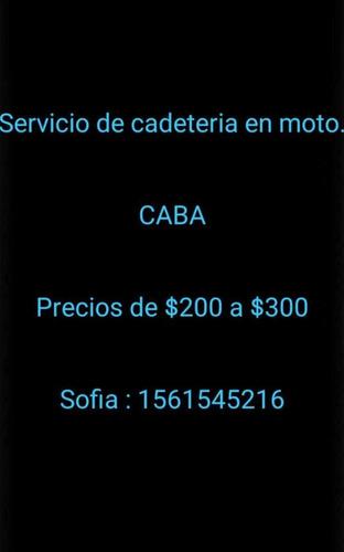servicio de cadeteria en moto.